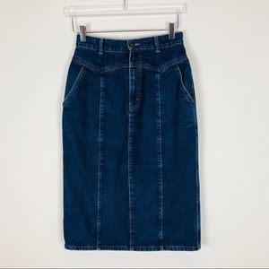 Vintage Calvin Klein jean skirt size 30/11